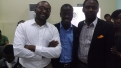 With Kunle Olaifa (Head, HR, Samsung West Africa) and Aruosa Osemwegie (Convener, WeReady and Author, Getting a Job is a Job) at WeReady 2014